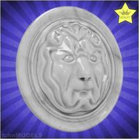 3d model lion basrelief