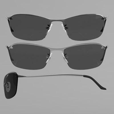 3d model of rayban sunglasses