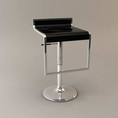 lem bar kitchen stool 3d model