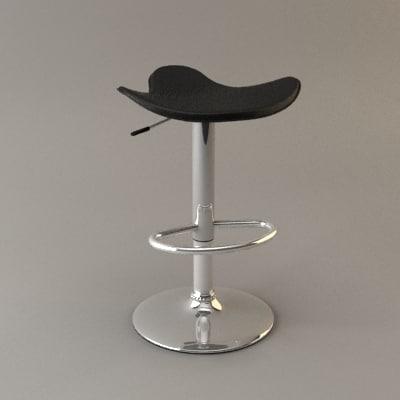 3ds max milano kitchen stool bar