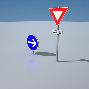 free panels roundabout 3d model
