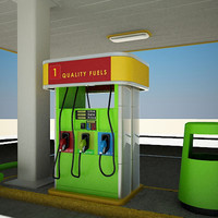 Small Self Service Gas Station