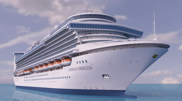 cruise ship caribbean princess 3d model