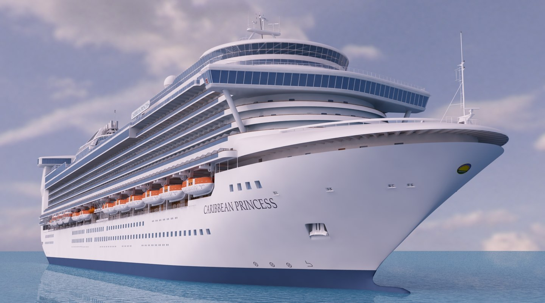 Cruise Ship Caribbean Princess 3d Model
