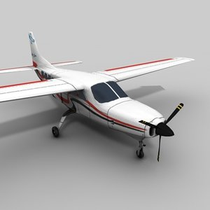 avião 3d obj