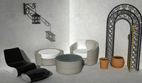 exterior furniture pack 3d max