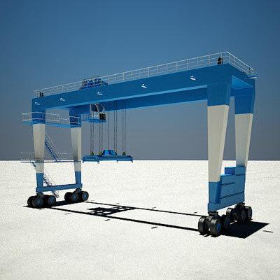 gantry crane rubber 3d model
