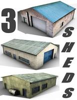 3 Old Sheds