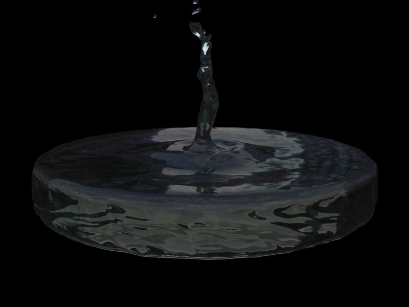 water splash animation 3d model