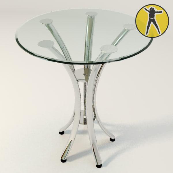 3d model glass table