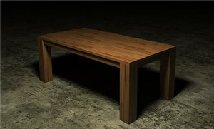 3d parametric dining table model