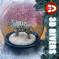 White tiger snow globe by 3DRivers