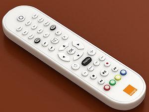 3d orange tv remote model