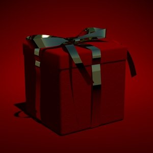 3d model xmas gift