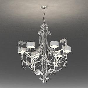 3d chandelier cantori lago foglia model