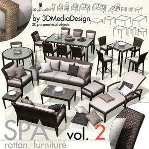 library rattan furniture spa max