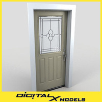 residential entry door 01 3d model