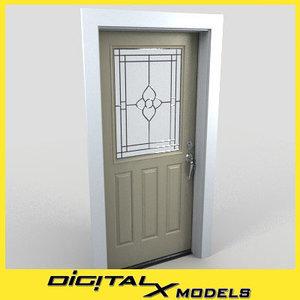 residential entry door 01 3d model