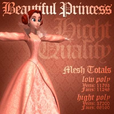 3d beautiful princess model