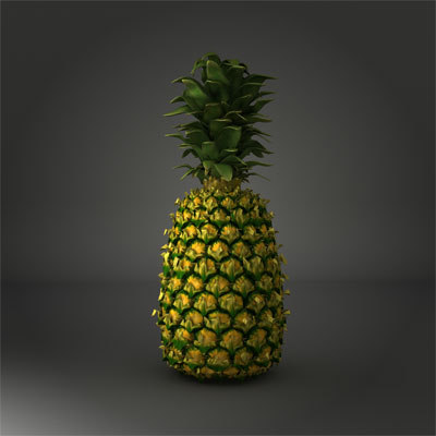 natural pineapple 3d model