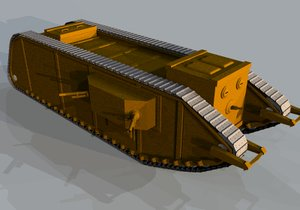 3ds max army tank