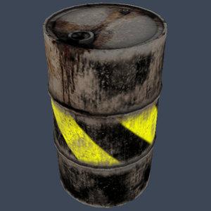 yellow gallon drum 3d model