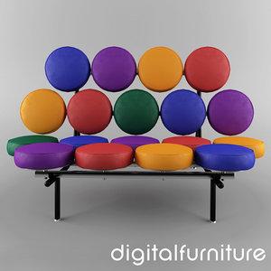 nelson marshmallow sofa 3ds