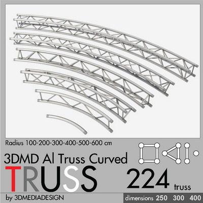 3d aluminum truss curved model