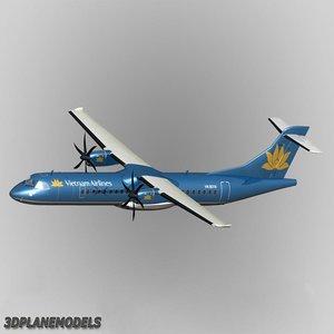 3d atr 72-500 airliner vietnam
