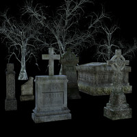 Graveyard Low Poly Asset Pack