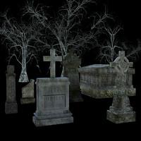 fbx graveyard pack assets