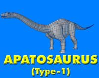 3d apatosuarus model