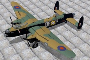 3d avro manchester bomber model