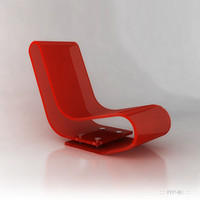 Designer Red Perspex Chair