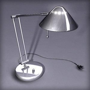 3d model office desk lamp