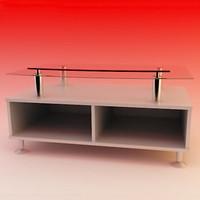 3d modern tv stand model