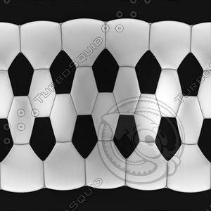 football ball mapped 3d model