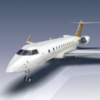3d bombardier global 5000