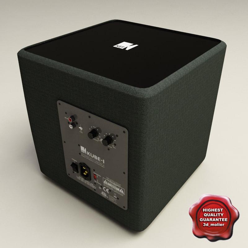 kef kube 1. kef kube 1 subwoofer 3d model t