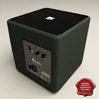 kef kube 1 subwoofer 3d model