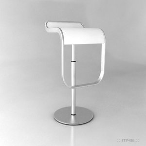 3d contemporary kitchen bar stool model