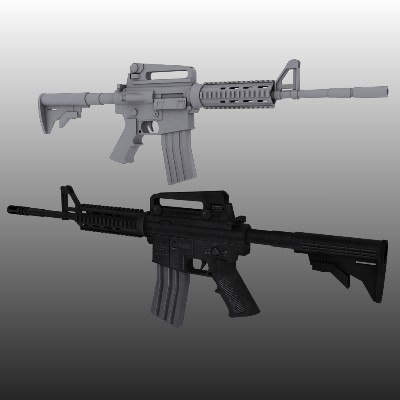 m4a1 assault rifle 3d model