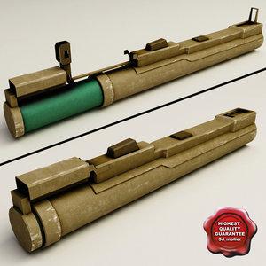 m72 rocket launcher 3d model