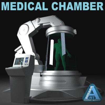 futuristic medical device 3d model