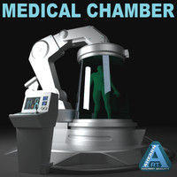 futuristic medical device 3d model