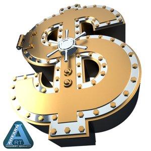 maya bank vault dollar symbol