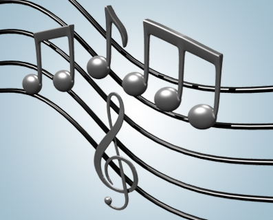 music notes 3d lw