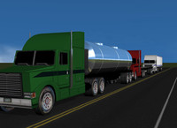 cinema4d semi truck trailer