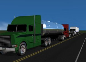 cinema4d semi truck trailer