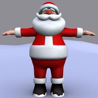3d santa mesh model